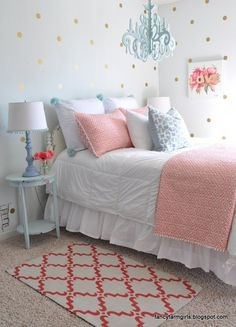 40+ beautiful teenage girls' bedroom designs | turquoise pattern