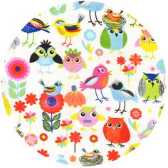Timeless Treasures, Birds of a Feather http://www.fabricworm.com/titrbioffemu.html