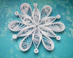 VAL D'ISERE snowflake - Paper quilled ornament - Christmas decoration - Handmade gift