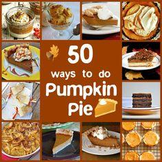 50 ways to do pumpkin pie