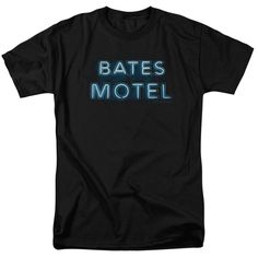 Shop for Bates Motelong Sleeveign Logo Short Sleeve Adult T-Shirt in Black. Get free delivery On EVERYTHING* Overstock - Your Online Men's Clothing Store! Cool Shirts, Tee Shirts, I Love You Mother, Bates Motel, Shirt Store, Graphic Shirts, Logos, Mens Tops, Clothes