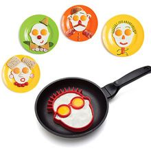 HOT Silicone Fried Egg Mould Funny Rabbit Clown Face Pancake Egg Shaper Cooking Tool 91ZP(China (Mainland))