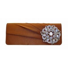 This chocolate brown clutch bag is secure and has a lovely brooch for a touch of class, from the UK Chocolate Coffee, Chocolate Brown, Brown Clutch Bags, Embellished Clutch Bags, Silver Brooch, East Sussex, Flats, Sandals, Hand Bags