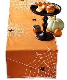 Halloween Spider Table Runner