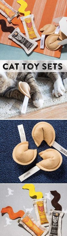Hand crafted in the U.S. to look like real Chinese food items, these adorable cat toys are stuffed with 100% organic catnip.