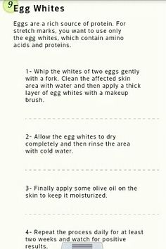 How to get rid of stretch marks -Tip 9: Egg Whites