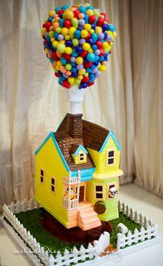 disney up themed 1st birthday cake