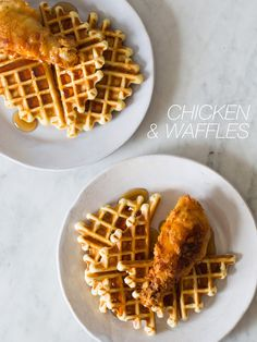 @spoonforkbacon has this fab #chicken and #waffles recipe – with #buttermilk, of course! Enjoy!