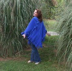 Slinky Mink Fleece Poncho  Lots of Colors by DonnasDesignsSC