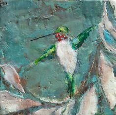"""Part of my hummingbird painting series. (8"""" x 8""""). For more information or to join my email list, please visit www.lorrakurtz.com Hummingbird Painting, Contemporary Paintings, Wings, Email List, Fine Art, Gallery, Artist, Join, Decor"""
