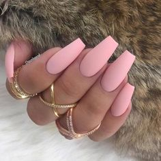 – pink nails — Matte pink … – Makeup & Nails & Hair, You can collect images you discovered organize them, add your own ideas to your collections and share with other people. Pastel Pink Nails, Cute Pink Nails, Purple Nails, Pretty Nails, Matte Pink, Light Pink Nails, Simple Acrylic Nails, Summer Acrylic Nails, Best Acrylic Nails