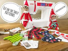 Valentine Gift Bags - CottnLove Create Kids Couture: Day of Christmas: Elf Clothing Elf on the Shelf Sewing Patterns Free, Sewing Tutorials, Free Pattern, Sewing Projects, Sewing Diy, Dress Sewing, Clothing Patterns, Clothing Ideas, Sewing Ideas