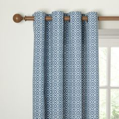 John Lewis Nazca Lined Eyelet Curtains, Indian Blue