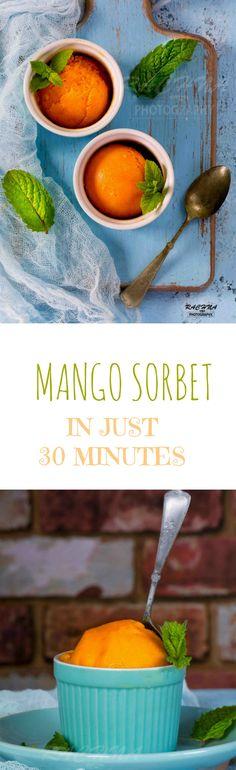MANGO SORBET RECIPE PIN