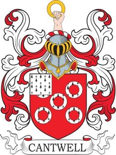 Cantwell Family Crest and Coat of Arms