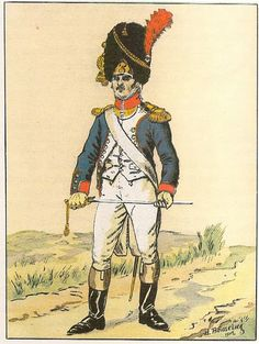 French; 57th Line Infantry, Grenadier Lieutenant, 1803-05