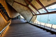 Sydney Opera House - Interior Stairs - The Sydney Opera House has a total of 1000 rooms.