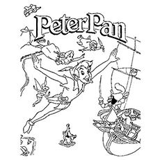 peter pan color page disney coloring pages color plate coloring sheetprintable coloring picture disney coloring pages pinterest peter pans