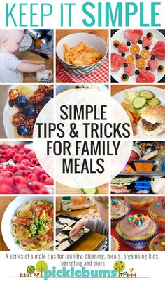 Simple tips and tricks for family meals