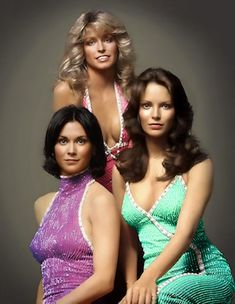 The original Charlie's Angels, Kate Jackson,Farrah Fawcett Jaclyn Smith, Kate Jackson, Farrah Fawcett, Jaclyn Smith, Beautiful People, Beautiful Women, Cheryl Ladd, Actrices Hollywood, Vintage Tv, Classic Tv