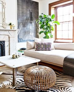This eclectic living room is @robertdmckinley amazing space. What do you think? Would you love to see us recreate it? Vote now by liking! Picture with the most likes wins   by @nicole_franzen #CopyCatChic