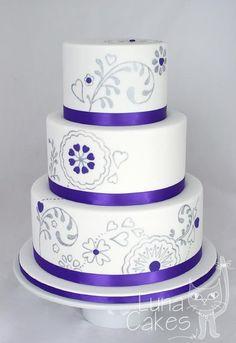 beatiful hand painted cake