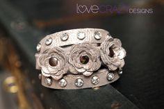 Shimmering silver  triple wrap bracelet by LoveCrazyDesigns, $55.00