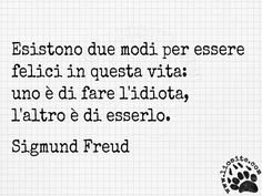 Sigmund Freud - Esistono due . Quotes Thoughts, Me Quotes, Sigmund Freud, Italian Phrases, The Ugly Truth, Special Words, Kind Words, Sentences, Slogan
