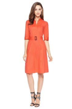 'Damalen' | Stretch Cotton Belted Dress by BOSS