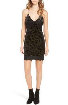 Topshop Lace Trim Velvet Jacquard Slipdress available at #Nordstrom