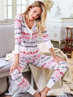 To flirt by the fire...   Victoria's Secret The Fireside Long Jane Pajama