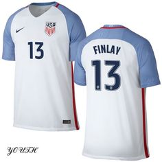 16/17 Ethan Finlay Youth Home Jersey #13 USA Soccer