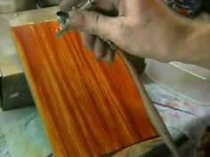 Airbrush, Holz imitieren, Airbrushanleitung, Custompainting - Paint wood...