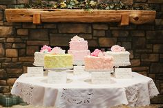 #cake-table  Photography: Heather Curiel - heathercurielweddings.com  Read More: http://www.stylemepretty.com/2012/11/07/oklahoma-wedding-from-heather-curiel-nostalgia-film/