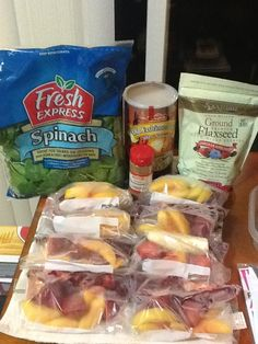 pre-bag your smoothie ingredients for easy access! High protein, high fiber smoothie
