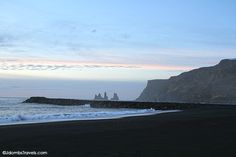 Black sand beach near Vik. Vik is the last service station between Skógar and Skaftafell, so stop for gas here. The gas station is a self-service pump that accepts credit cards only and a Pin is required. There is also a small tourist information center and cafe. An Icelandic hot dog is a great snack if the cafe is open! The Wool Center is worth a visit and features a second level balcony where you can see women hand-knitting Icelandic sweaters