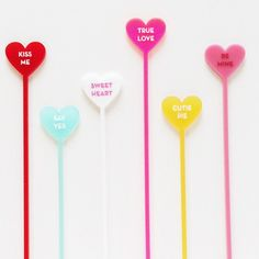 Drink Stirrers: Classic Candy Hearts