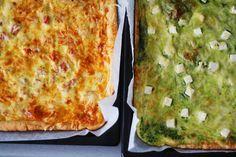 Terkkuja viikonlopun ehtoopuolelta! Keittiössä on koko tämä viikko touhuttu paljon, mutta blogin puolella juttuja näkyy vasta myöhemmin. Paljon on kaikkea uutta esiteltävää keittiössä, ja kivoja pääsiäisreseptejä on tulossa. Tämän viikonlopun leivontasaaliina oli kaksi pellillistä gluteenitonta... Joko, Gluten Free Baking, No Bake Desserts, Raw Food Recipes, Quiche, Food And Drink, Pizza, Bread, Homemade