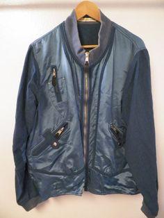 MEN'S VINTAGE BALENCIAGA PARIS TEAL BLUE PARACHUTE ZIP FRONT JACKET SZ 48 in Clothing, Shoes & Accessories   eBay