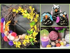 Spring decoration + spring wreath on the door / DIY Wreaths, Halloween, Spring, Diy, Youtube, Home Decor, Ideas, Decoration Home, Door Wreaths