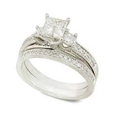 Top Just Wedding.......: Women Princess Cut Wedding Rings