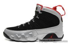 online store ec837 3149d Men s Air Jordan 9 AJ9 Jordan 9 Basketball Shoes PU Leather A+ Shoes Black  Silvery Calzado