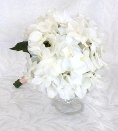Creme white hydrangea bouquet