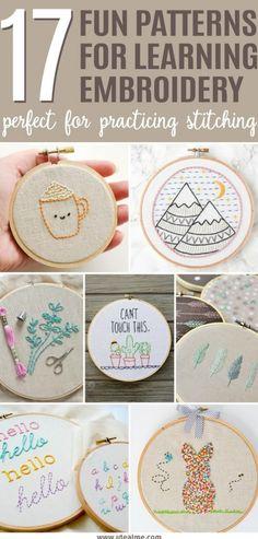 Basic Embroidery Stitches, Folk Embroidery, Learn Embroidery, Hand Embroidery Designs, Embroidery Techniques, Ribbon Embroidery, Cross Stitch Embroidery, Machine Embroidery, Embroidery Ideas