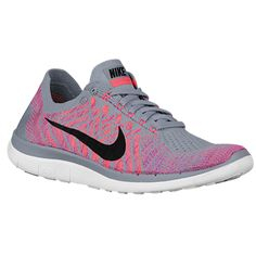 Nike Free 4.0 Flyknit 2015 - Women's - Running - Shoes - Wolf Grey/Fuchsia Flash/Atomic Pink/Black