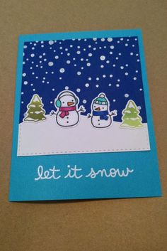 Let is Snow by MeganBeth - Cards and Paper Crafts at Splitcoaststampers