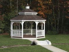 Vinyl Octagonal Gazebo - We delivery fully assembled gazebos throughout eastern Ontario and Quebec. Visit us online for fully price list ncsshelters.com