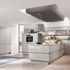 Offene Küche Mit Oberflächen In Beton