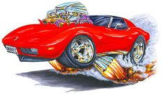 Madd Doggs Chevrolet Corvette Muscle Car T-Shirts and Apparel Tshirts, Tshirt 1976 Corvette, Corvette Summer, Chevrolet Corvette Stingray, Caricature, Pink Car Accessories, Cool Car Drawings, Monster Car, Car Prints, Suv Cars