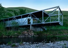 Idaho architect Paul Hirzel has completed a house raised above ground to avoid surging waters and snake infestations in the rural town of Juliaetta